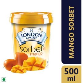 London Dairy Premium Ice Cream- Mango Sorbet, 500ml