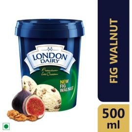 London Dairy Premium Ice Cream- Fig Walnut, 500ml