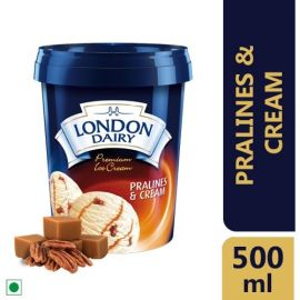 London Dairy Premium Ice Cream Pralines and Cream, 500ml