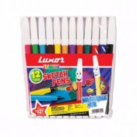 Luxor Sketch Pen Assorted 12 colours (pack of 12)