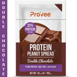 Provee Double Chocolate Protein Spread 100% Natural - 192g (Pack of 6 x 32g)