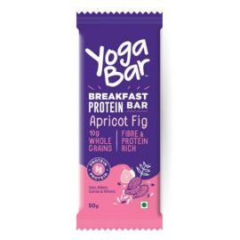 Yogabar Breakfast Protein Apricot and Fig Bar, 50g