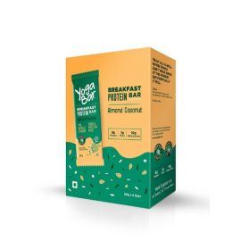 Yogabar Breakfast Protein Almond Coconut Bars - 300g (Box of 6 bars)
