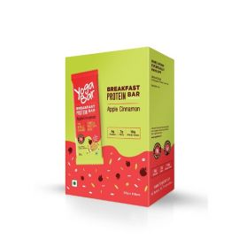 Yogabar Breakfast Protein Apple Cinnamon Bar, 300g (Box of 6 bars)