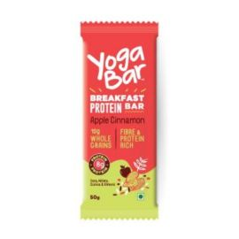 Yogabar Breakfast Protein Apple Cinnamon Bar, 50G