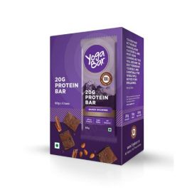 Yogabar Protein Chocolate Brownie Bars - 360g (Box of 6 bars)